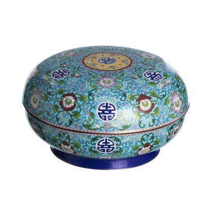 Box in cloisonne metal