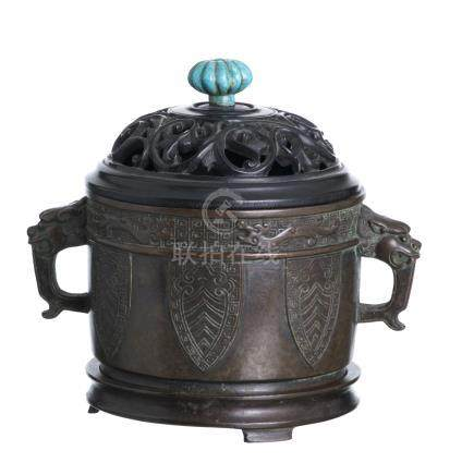 Chinese bronze censer, Minguo