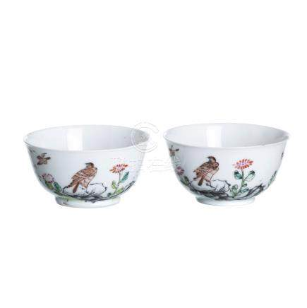 Two small bowls in Chinese porcelain, Qianlong
