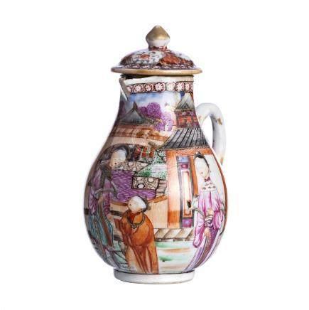 Mandarin milk jug in Chinese porcelain, Qianlong