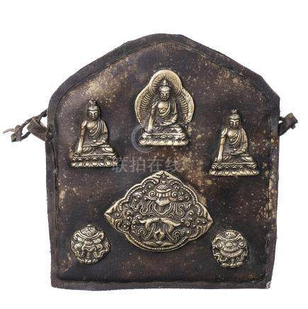 Tibetan plaque with bodhisattva