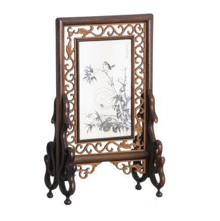 Chinese table screen, Minguo
