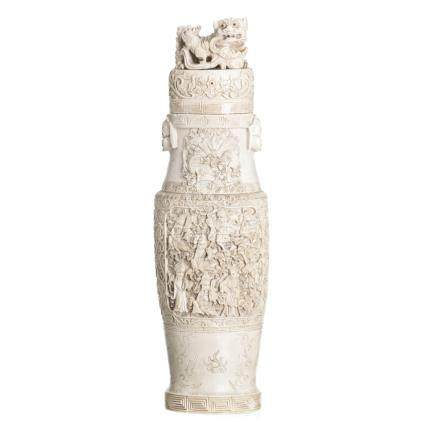Chinese vase in ivory
