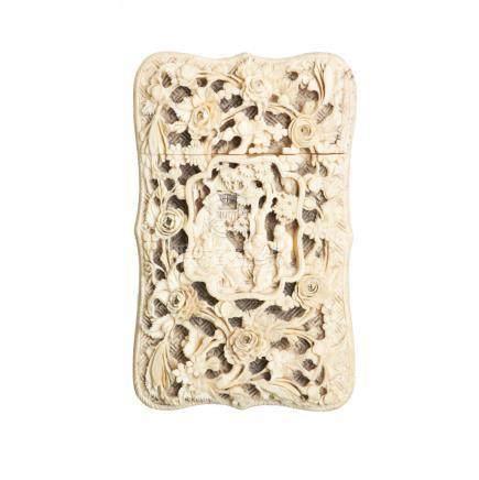 Chinese ivory card box