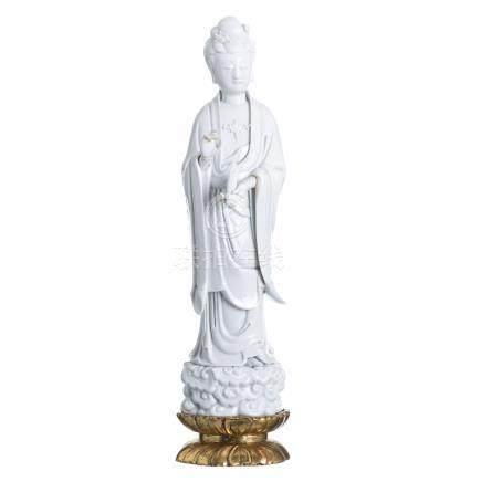 Guanyin in porcelain blanc de chine