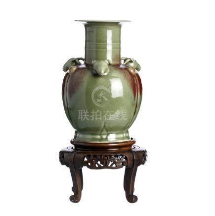 Celadon vase 'goat heads'