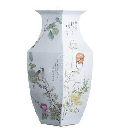 Large vase of Chinese porcelain, Minguo