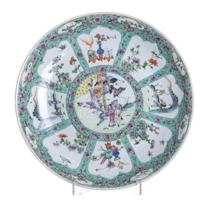 Plate in chinese porcelain.Minguo