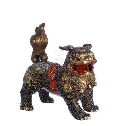 Foo dog in Satsuma ceramic