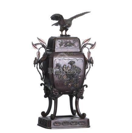 Japanese bronze Censer burner