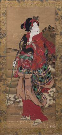 JAPANESE SCHOOL, 19th century - 'Geisha'