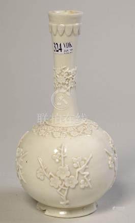 """Vase soliflore en biscuit de porcelaine dit """"Blanc"""