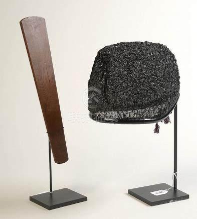 Bonnet de cérémonie shinto, eboshi en tulle et laq