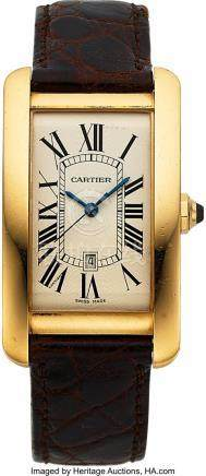 54001: Cartier, Fine Tank Americaine, 18K yellow Gold,