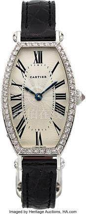 54006: Cartier, Ladies Very Fine 18K White Gold and Dia