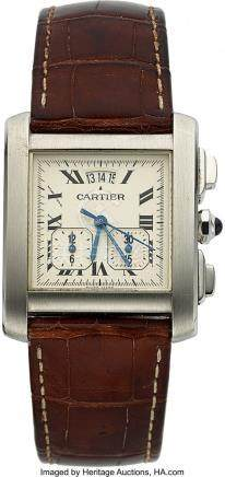 54009: Cartier, Tank Francaise Chronograph, Stainless S