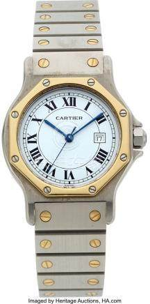 54013: Cartier, Santos Octagon Ronde, Midsize Stainless
