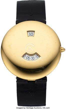 54020: Chaumet, Very Fine Jump Hour, 18K Yellow Gold, A
