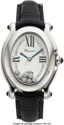 54032: Chopard, Ladies Happy Sport Oval, Stainless Stee