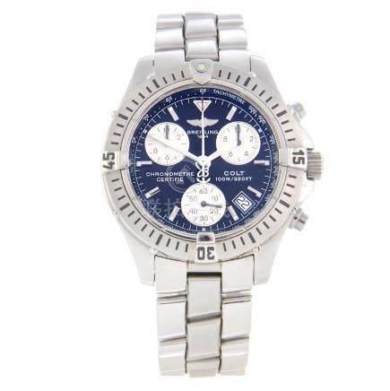 BREITLING - a gentleman's Colt chronograph bracelet