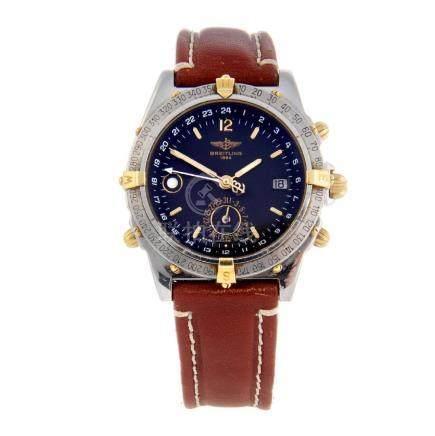 BREITLING - a gentleman's Duograph wrist watch.