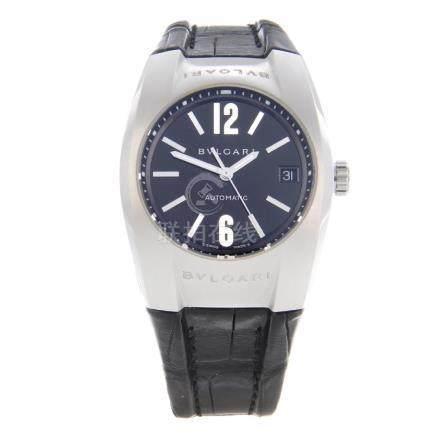 BULGARI - an Ergon wrist watch. Stainless steel case.