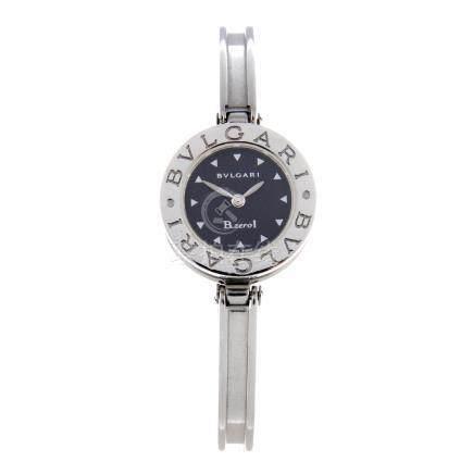 BULGARI - a lady's B.zero1 bangle watch. Stainless