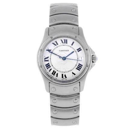 CARTIER - a Cougar bracelet watch. Stainless steel case
