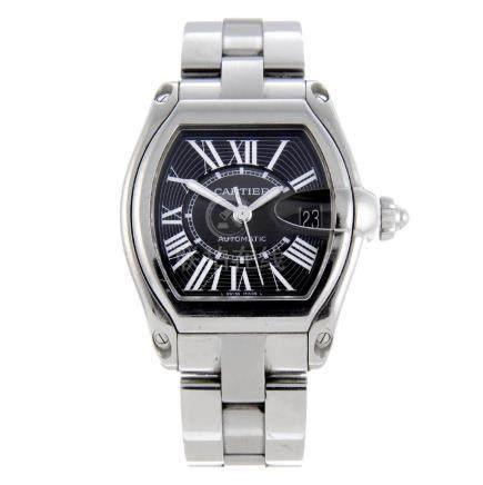 CARTIER - a Roadster bracelet watch. Stainless steel