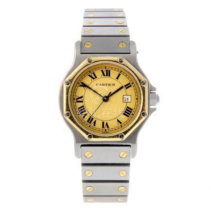 CARTIER - a Santos Ronde bracelet watch. Stainless
