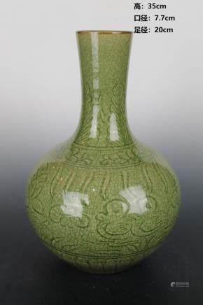 Ming Longquan Lotus Pond Mandarin Duck Celestial Bottle