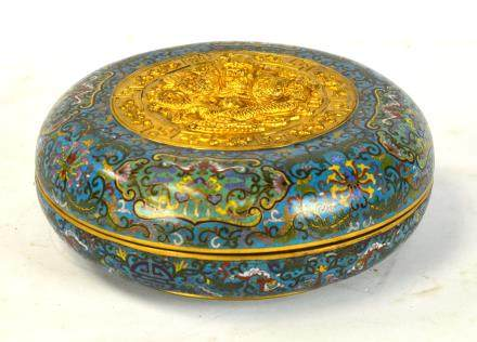 Chinese Round Covered Cloisonne Box