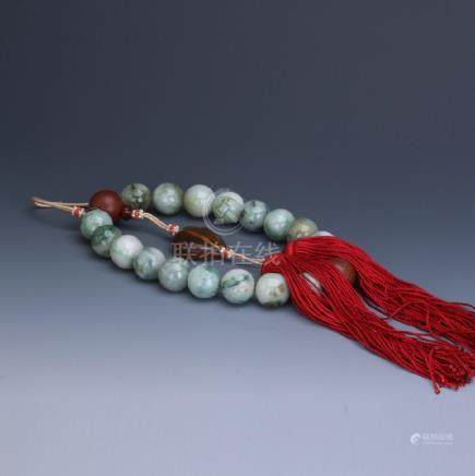 A jadeite beads rosary