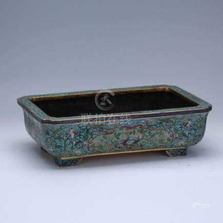 19/20th C. cloisonne footed planter