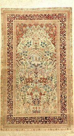 Fine Chinese Silk Hereke Rug,