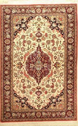 Fine Silk Qum Rug (Signed),
