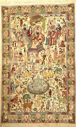 Kashmir 'Pictorial Rug' (King Solomo),