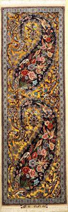 Fine & Rare Yellow Isfahan 'Javade Eslimi' Rug (Silk