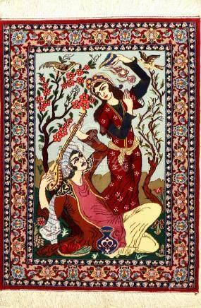 Fine Isfahan 'Pictorial Rug' (Hafiz),