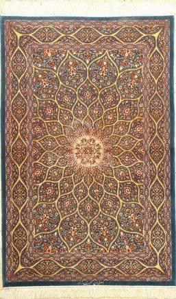 Fine & Rare Isfahan 'Mohebzadeh' Rug (Signed),