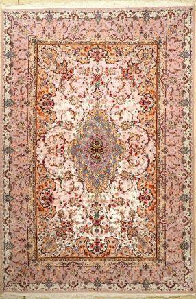 Fine 'Silk Ground' Isfahan Carpet,