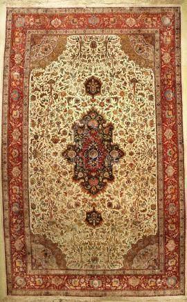 Large & Fine Chinese Tabriz 'Part-Silk' Carpet,