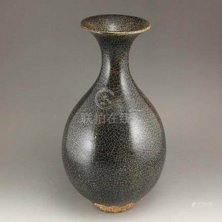 Chinese Song Dy Longquan Xikou Kiln Porcelain Vase
