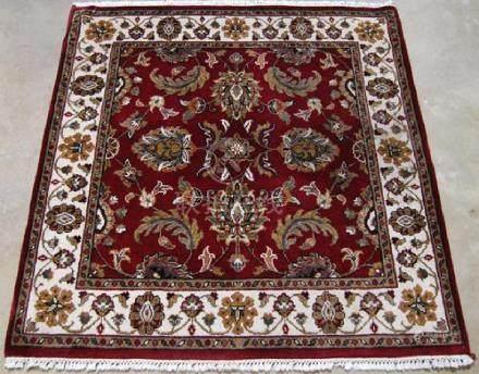 Rare Almost Square Shaped Indo Mahal 3.11x4.1