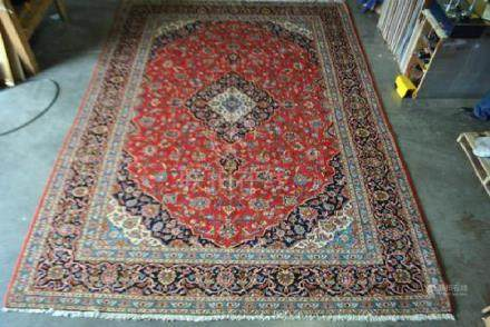 Large Room Size Authentic Persian Kashan 13.4x9.9