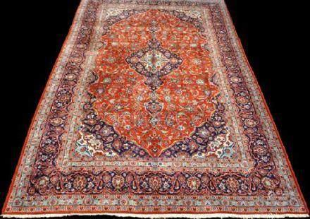Gorgeous Hand Woven Persian Kashan 7.10x12.2