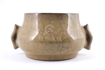 Song Ge Yao Crackle Porcelain Brush Pot