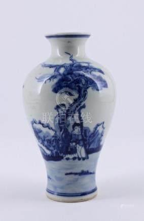 Qing Blue&White Character Porcelain Vase Kangxi Ma