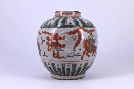 Ming WuCai Porcelain Jar