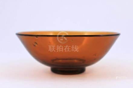 Qing Peking Glass Bowl